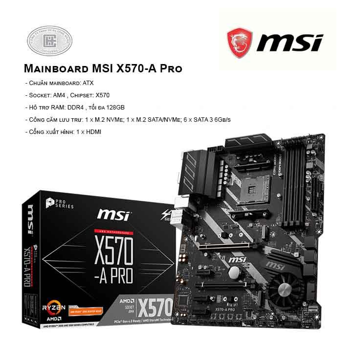 Mainboard MSI X570-A Pro - SOCKET AM4