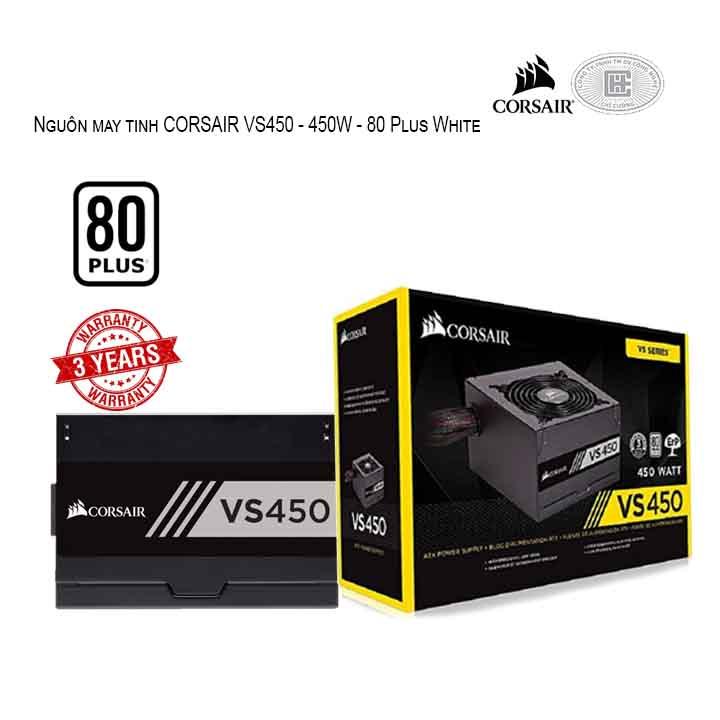 Nguồn máy tính CORSAIR VS450 - 450W - 80 Plus White CP-9020170-NA