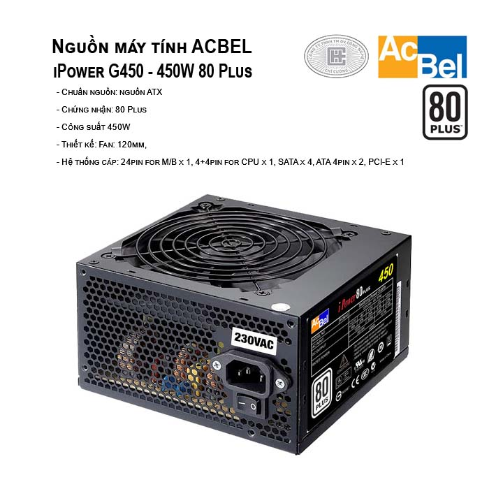 Nguồn máy tính AcBel iPower G450 - 450W 80 Plus
