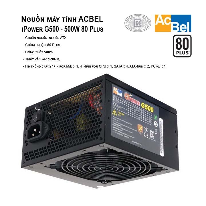 Nguồn máy tính AcBel iPower G500 - 500W 80 Plus