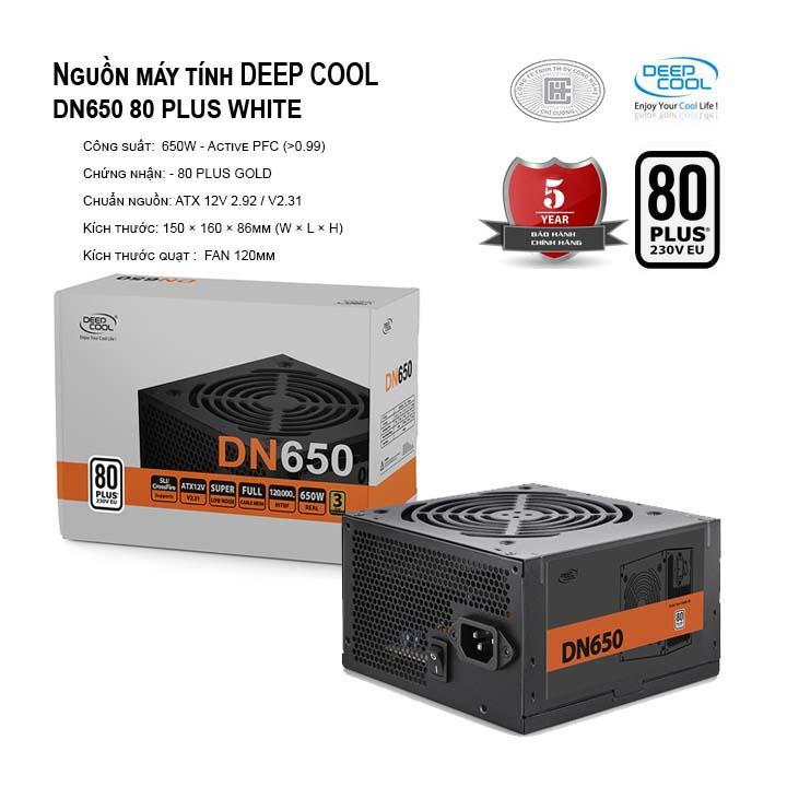 Nguồn máy tính Deep Cool DN650 80 PLUS WHITE