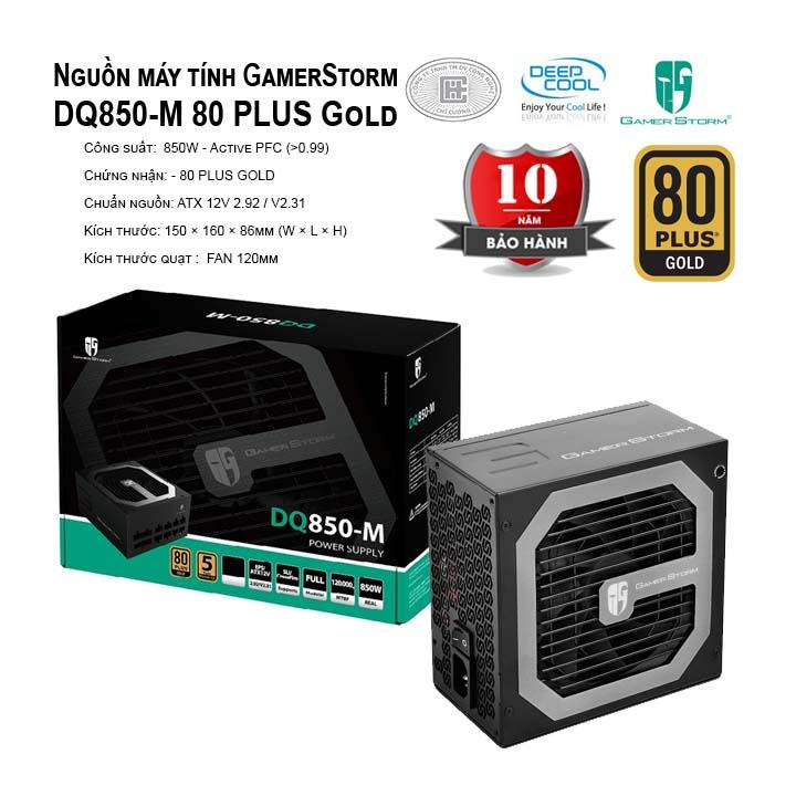 Nguồn máy tính Deep Cool GamerStorm DQ850-M 80 PLUS Gold