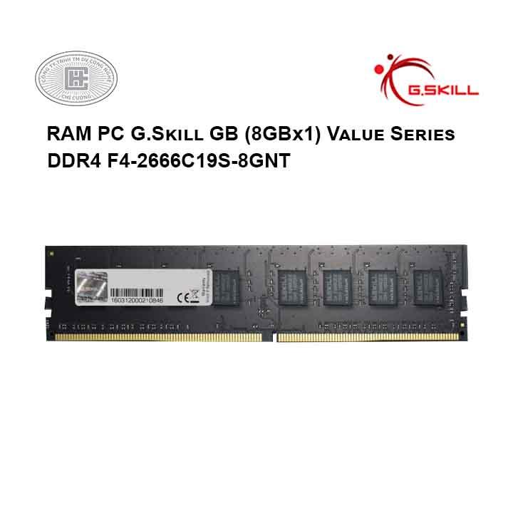 RAM PC G.Skill GB (8GBx1) Value Series DDR4 F4-2666C19S-8GNT