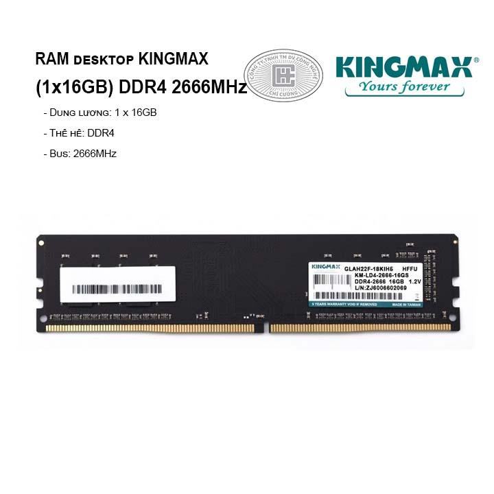 RAM PC KINGMAX 16GB DDR4 2666MHz