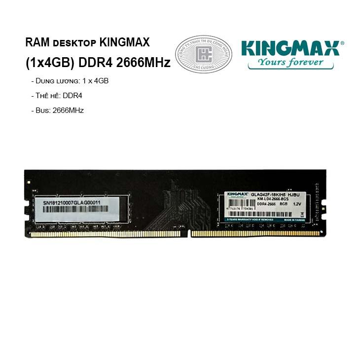 RAM PC KINGMAX 4GB Bus 2666MHz