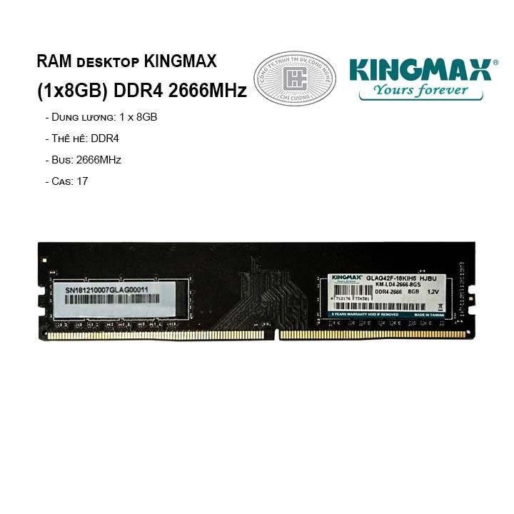 RAM PC KINGMAX 8GB Bus 2666MHz