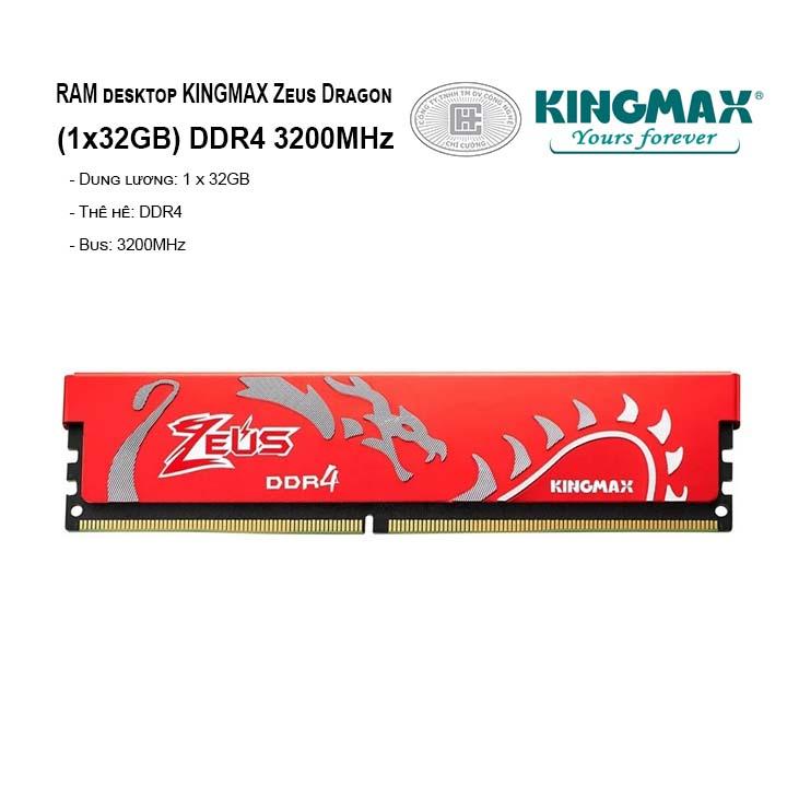 RAM PC KINGMAX Zeus Dragon 32GB Bus 3200MHz