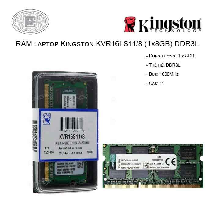 RAM Laptop Kingston 8GB Bus 1600MHz - KVR16LS11/8