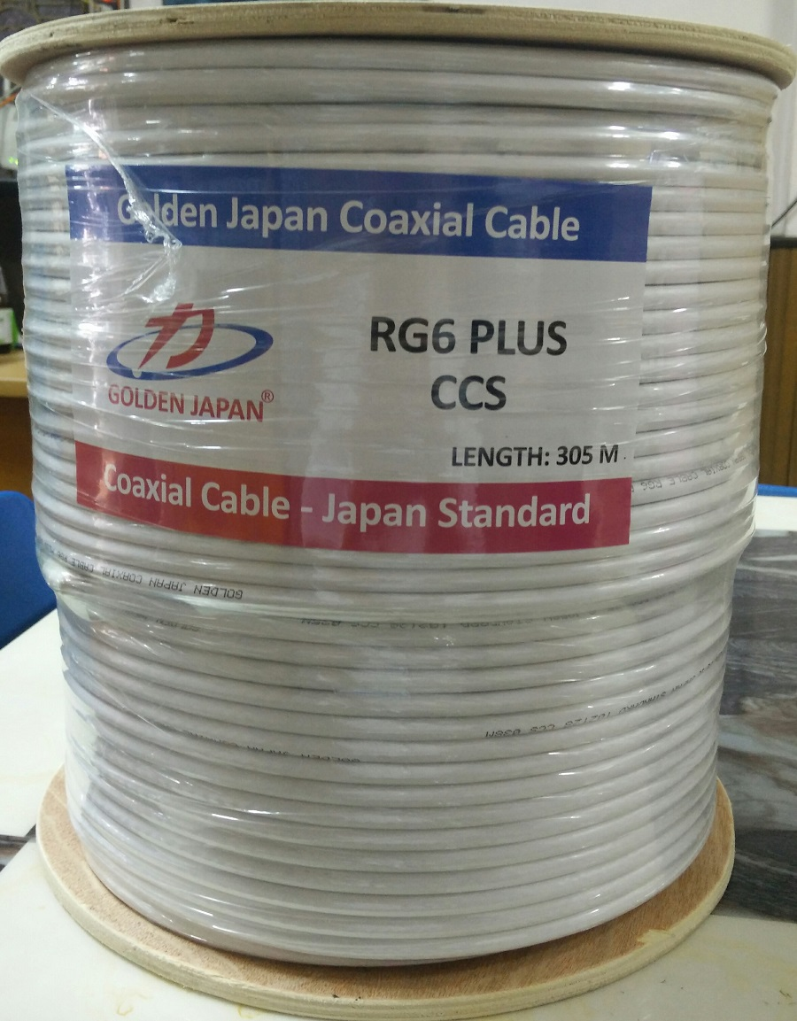 Cáp camera RG6 Plus GOLDEN JAPAN