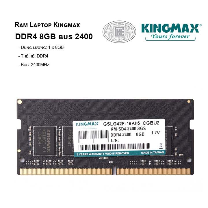 RAM Laptop KINGMAX 8GB BUS 2400MHz