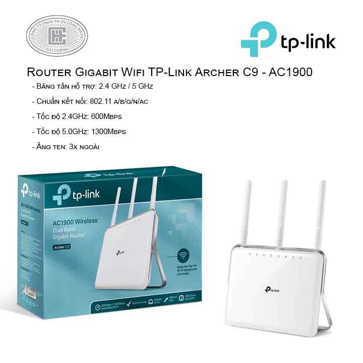 Router Gigabit Wi-Fi Băng tần kép AC1900 - Archer C9