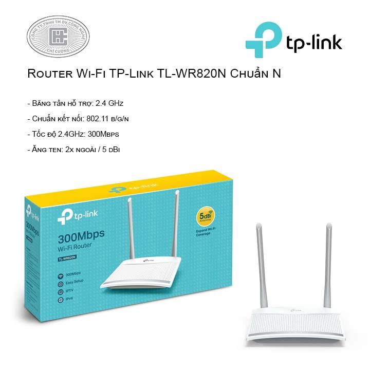 Router Wi-Fi TP-Link TL-WR820N Chuẩn N