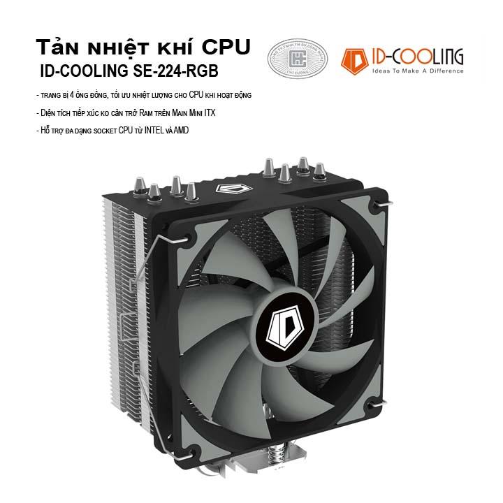 Tản nhiệt khí CPU ID-Cooling SE-224 XT Basic