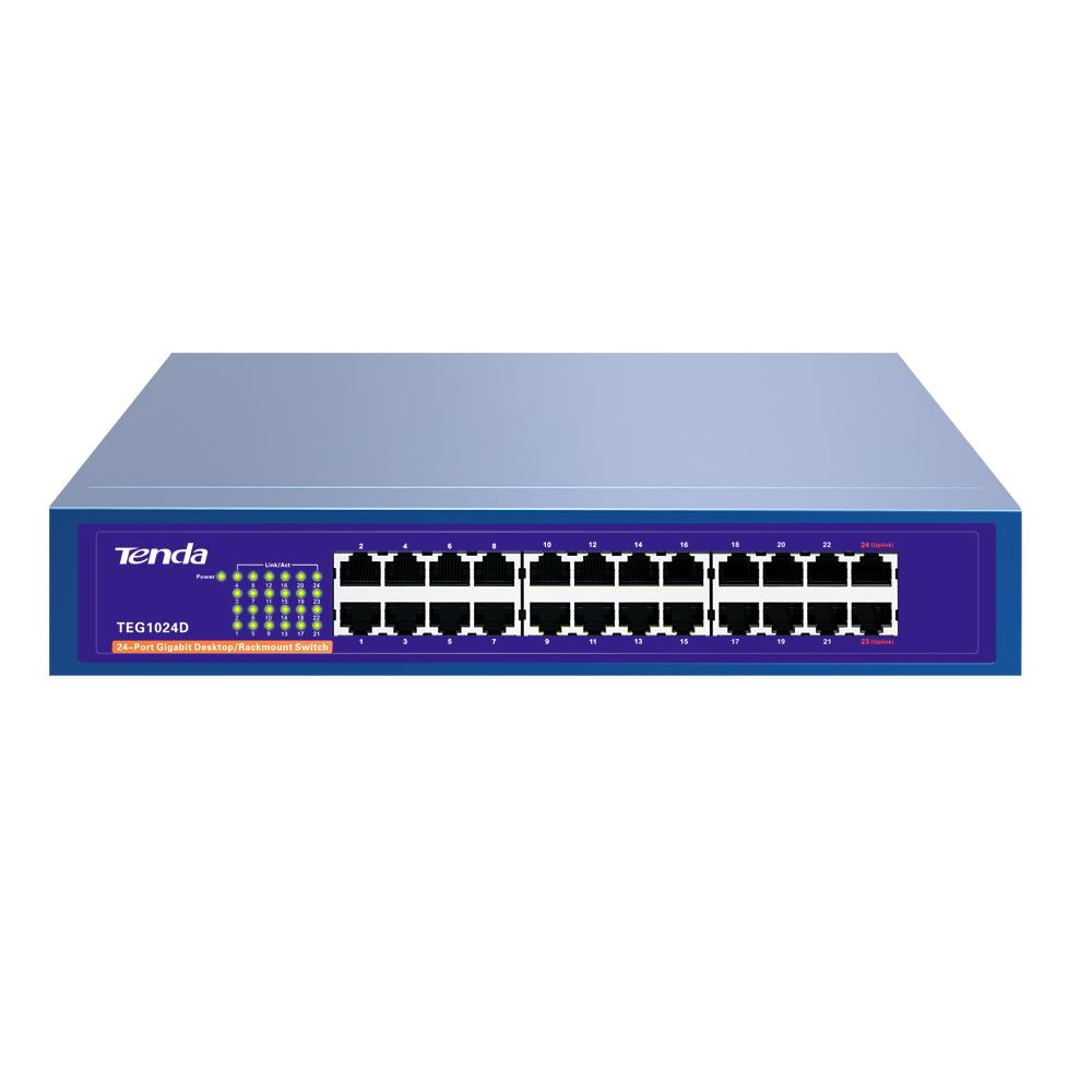 Thiết bị chia mạng Giga Switch 24 cổng 10/100/1000Mbps Tenda TEG1024D