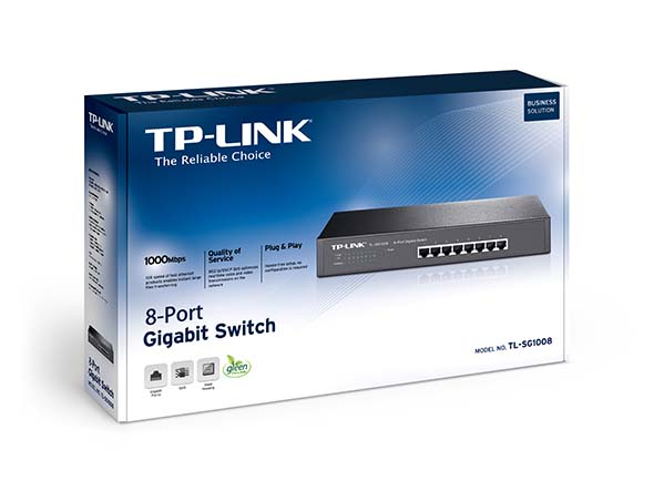 SWITCH TP-LINK -Unmanaged Pure-Gigabit Switch - TL-SG1008