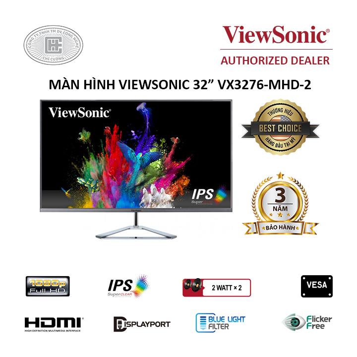 Màn hình Viewsonic VX3276-MHD-2 (1920 x 1080/IPS/75Hz/4ms)