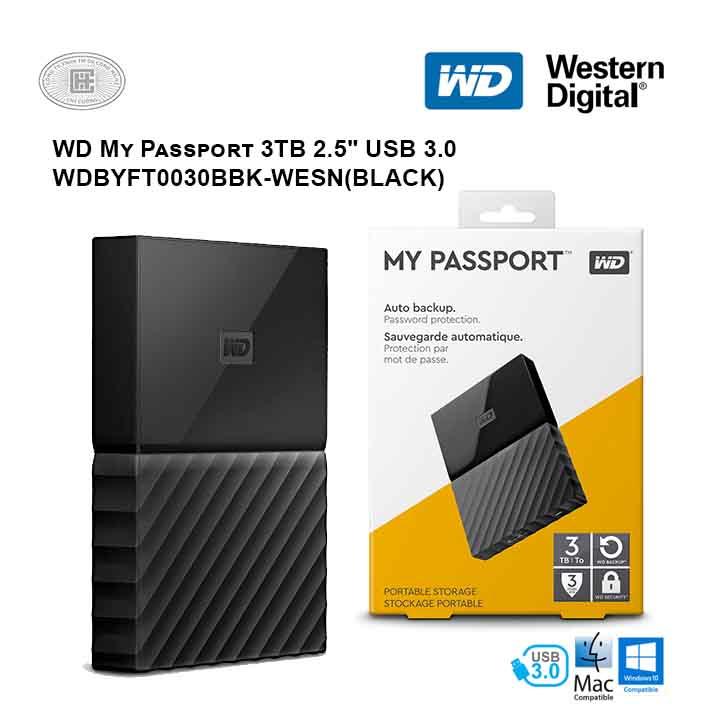 Ổ cứng di động HDD Western Digital My Passport 3TB 2.5