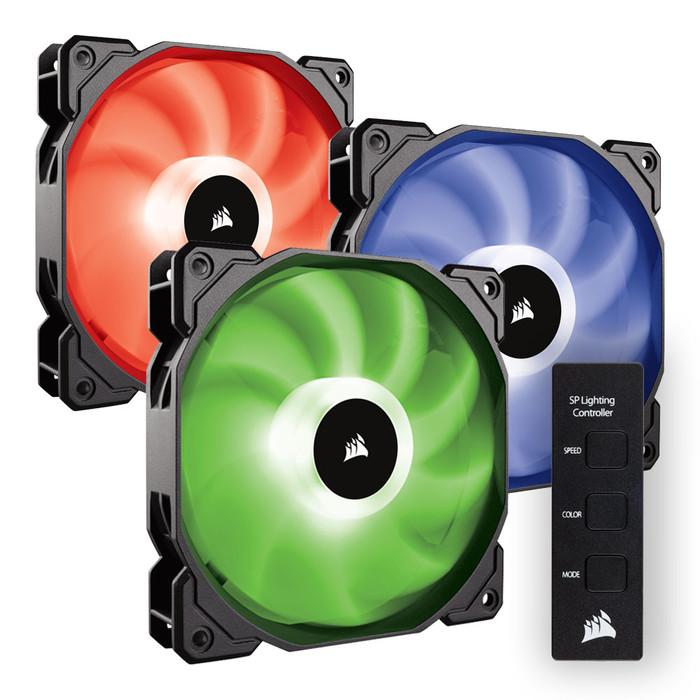 FAN CASE CORSAIR SP 120 RGB LED - Hộp 3 FAN - with controller - CO-9050061-WW