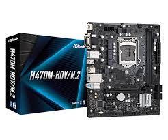Mainboard ASROCK H470M-HDV (Intel H470, Socket 1200, m-ATX, 2 khe Ram DDR4)