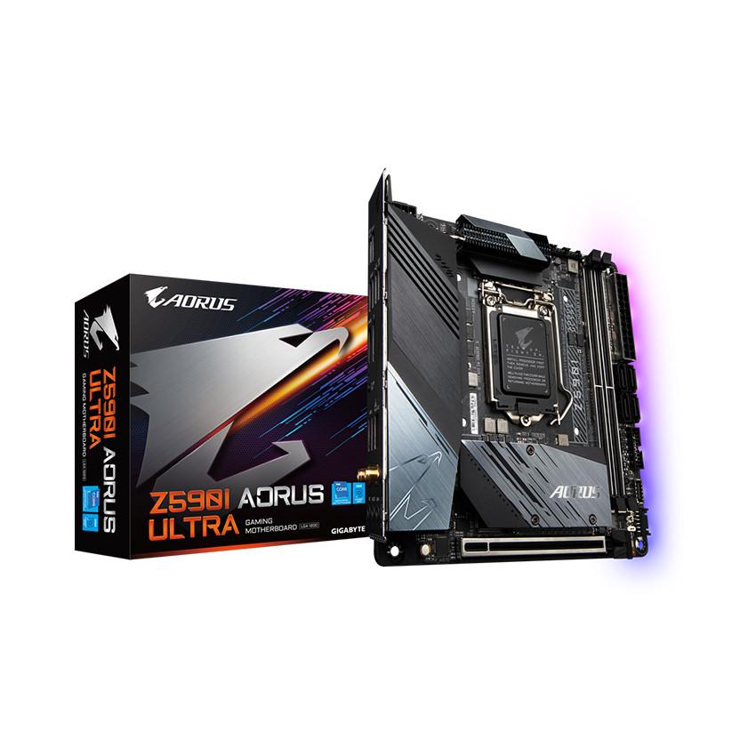 Mainboard Gigabyte Z590I AORUS ULTRA (Intel Z590, Socket 1200, Mini-ITX, 2 khe Ram DDR4)