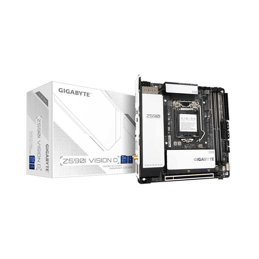 Mainboard Gigabyte Z590I VISION D (Intel Z590, Socket 1200, Mini-ITX, 2 khe Ram DDR4)