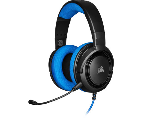 Tai nghe Corsair HS35 Stereo Blue Drivers 50mm - không kèm jack chia Y CA-9011196-AP