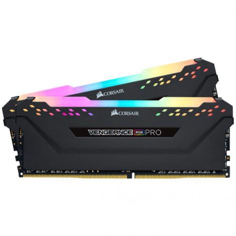 Bộ nhớ ram gắn trong Corsair DDR4, 3200MHz 16GB 2 x 288 DIMM, Vengeance RGB PRO black Heat spreader, RGB LED, 1.35V, XMP 2.0