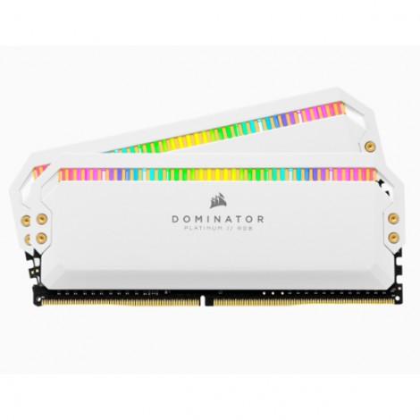 Bộ nhớ ram gắn trong Corsair DDR4, 3200MHz 16GB (2x8GB) DIMM, CL16 DOMINATOR PLATINUM RGB White Heatspreader, RGB LED