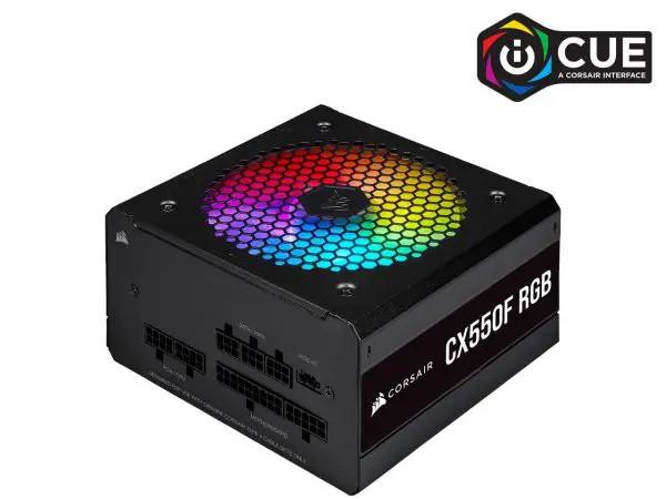 Nguồn Corsair CX550F RGB Black Full Modul – 80 Plus Bronze (CP-9020216-NA)