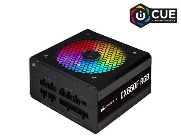 Nguồn Corsair CX650F RGB Black Full Modul – 80 Plus Bronze (CP-9020217-NA)