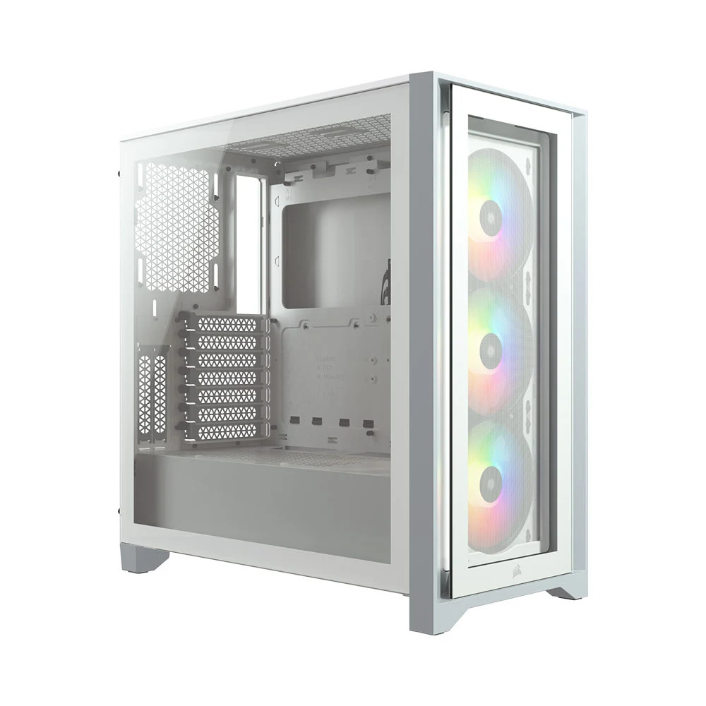 Thùng máy/ Case Corsair iCUE 4000X RGB TG White (CC-9011205-WW)