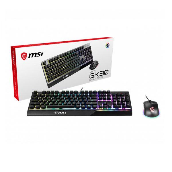 Combo Bàn phím chuột Gaming MSI (GK30 & GM11).