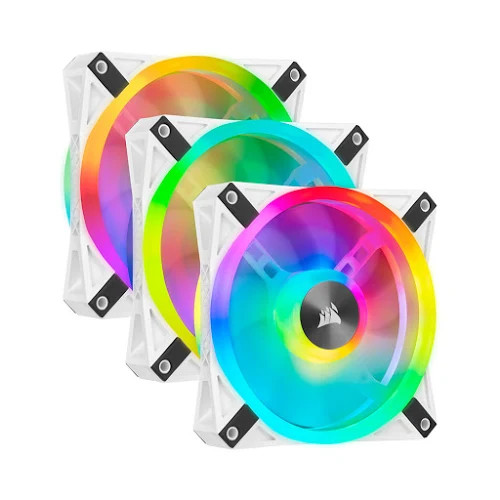 Fan case Corsair  QL120 WHITE PRO RGB LED Bộ 3 quạt 120mm kèm Node Core - NEW - CO-9050104-WW