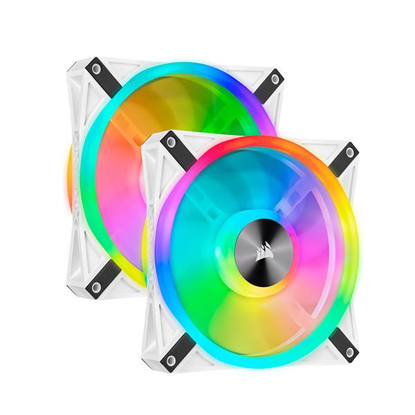 Fan case Corsair  QL140 WHITE PRO RGB LED Bộ 2 quạt 140mm kèm Node Core - NEW - CO-9050106-WW