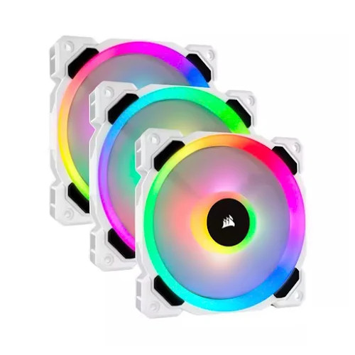 Fan case Corsair  LL120 Trắng RGB Bộ 3 fan 120mm kèm Node PRO - CO-9050092-WW