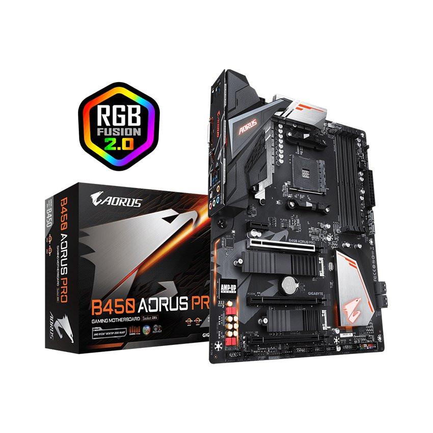 Mainboard GIGABYTE B450 AORUS PRO (AMD B450, Socket AM4, ATX, 4 khe RAM DDR4)