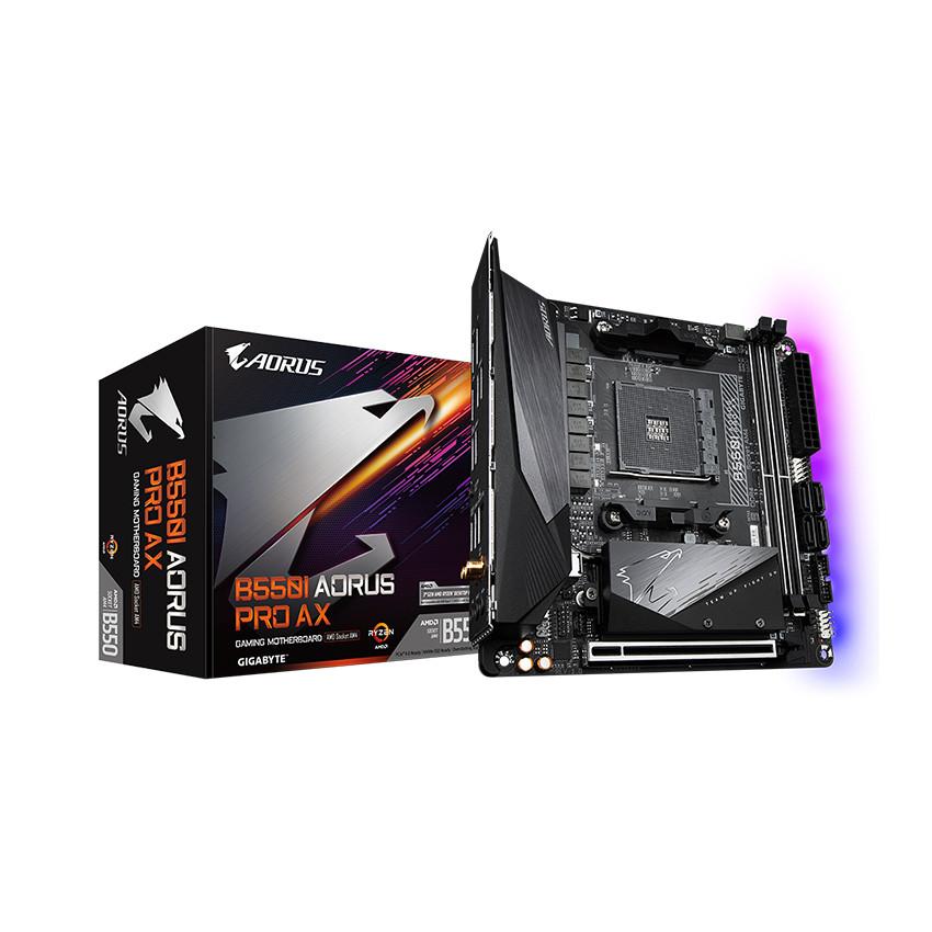 Mainboard Gigabyte B550I AORUS PRO AX (AMD B550, Socket AM4, Mini-ITX, 2 khe RAM DRR4)