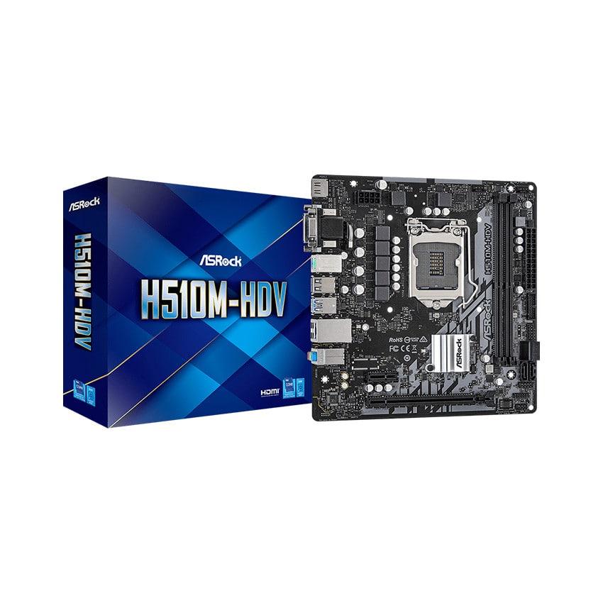 Mainboard ASROCK H510M-HDV (Intel H510, Socket 1200, m-ATX, 2 khe Ram DDR4)